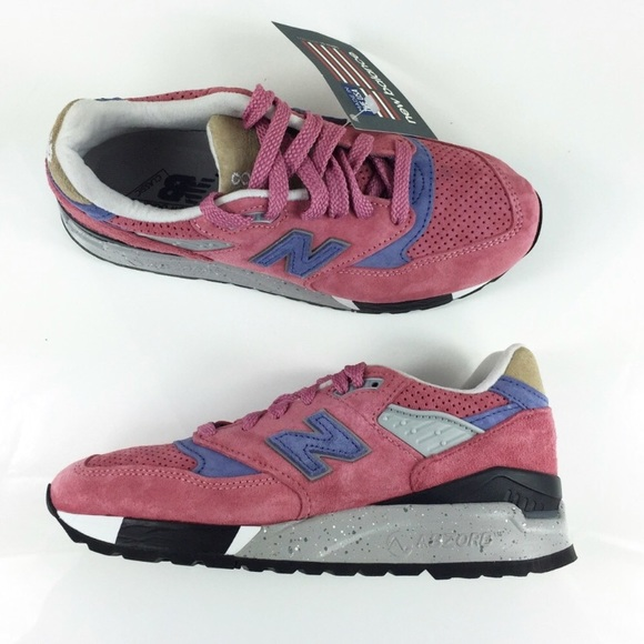 newest 575c1 5d730 New Balance 998 Abzorb Pink Suede Snikers Size 8.5 NWT